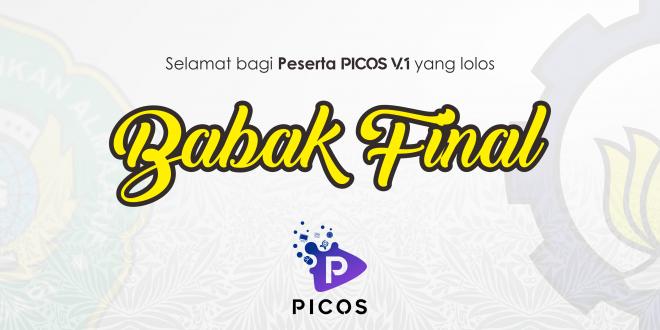 Selamat Peserta PICOS V.1 yang Lolos Tahap Final