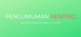 PENGUMUMAN PENTING PESERTA TES PPDB 2019/2020 GELOMBANG 1