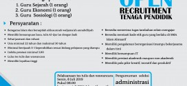 Open Recruitment Guru SMA Islam Almaarif Singosari