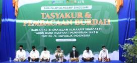 TASYAKUR DAN PEMBACAAN BURDAH HARLAH KE-41 SMA ISLAM ALMAARIF SINGOSARI